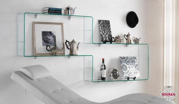 Mensola in vetro Stones
