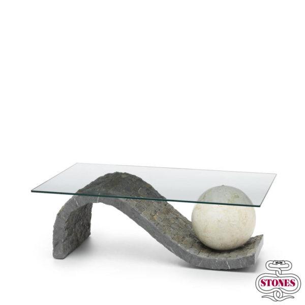 Tavolino onda salotto nero