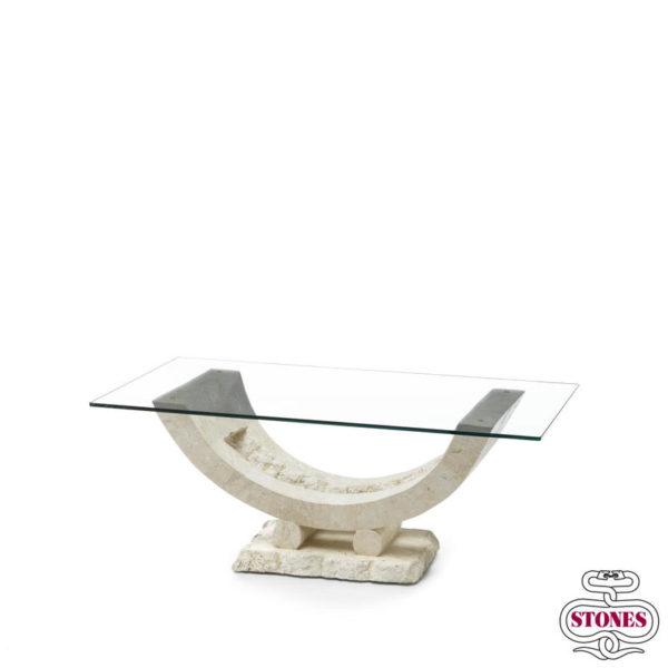 tavolino da salotto nome: gondola salotto piano in vetro