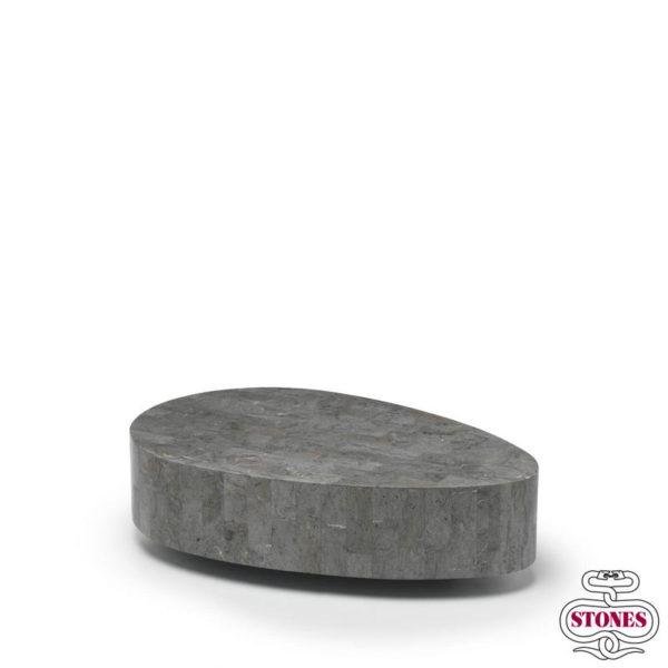 tavolino da salotto nome: oval colore: grigio
