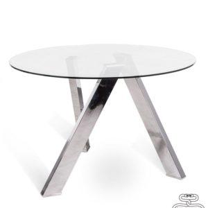tavolo fisso colore: rondo piano in vetro