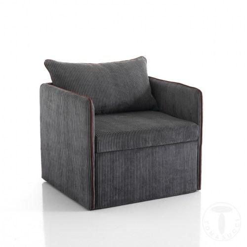 Tomasucci poltrona letto grey for Poltrona letto una piazza e mezza